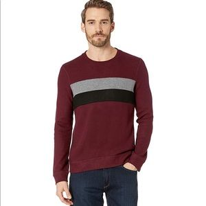 Kenneth Cole Knit Sweatshirt Crew Neck Blocking